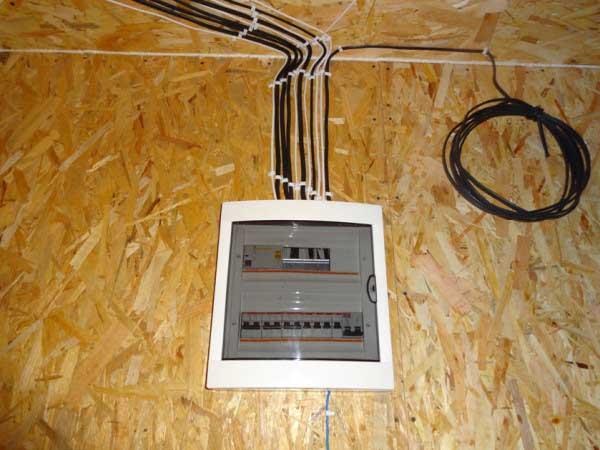 Проводка в доме из сип панелей - правила и особенности монта.