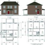 Проект дома 10х10 №2