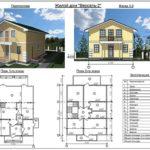 План двухэтажного дома из сип панелей №1