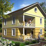 Двухэтажный домиз сип панелей №1