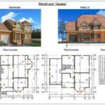 План двухэтажного дома из сип панелей №2