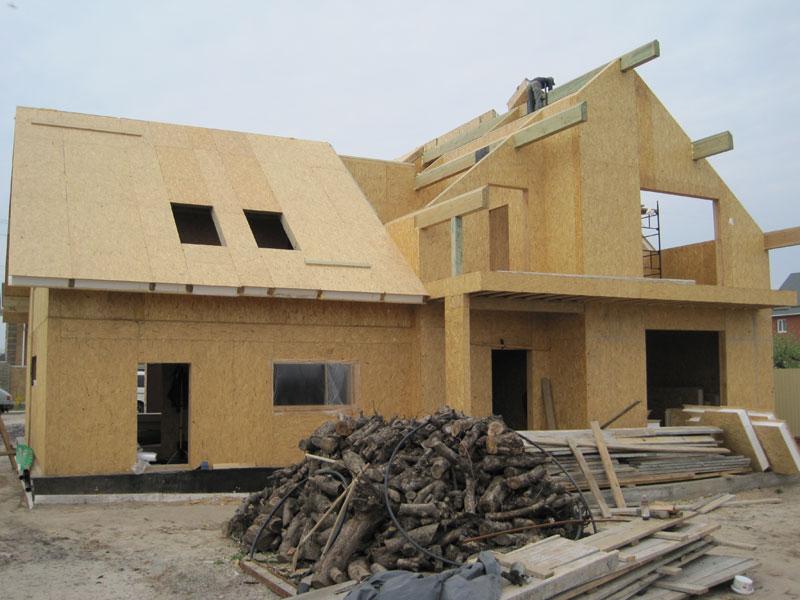 Установка крыши из панелей