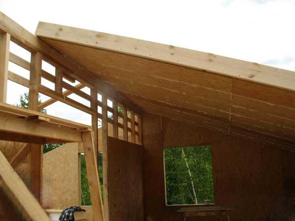 Этапы строительства мансарды
