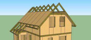 Крыша на мансарде