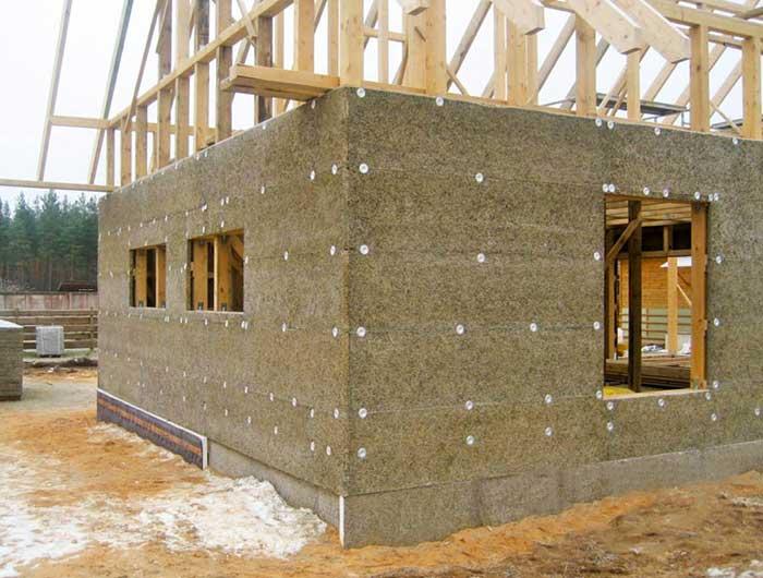 Каркасный дом из древесно-цементных панелей (ГринБорд)