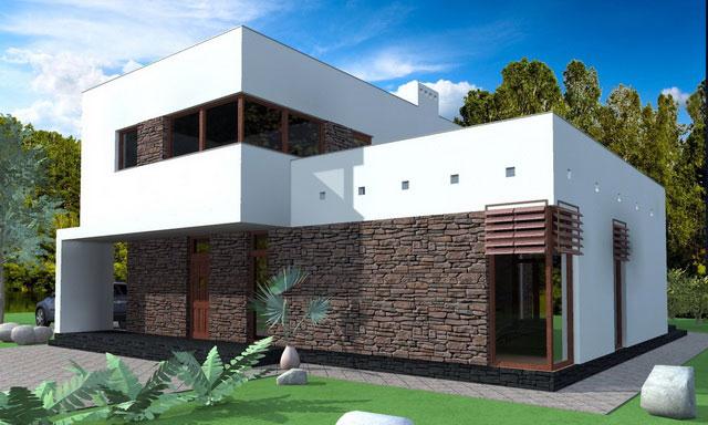 Дом из сип панелей в стиле Хай-тек