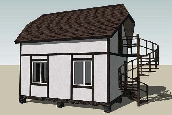 Проект дома 60 кв.м