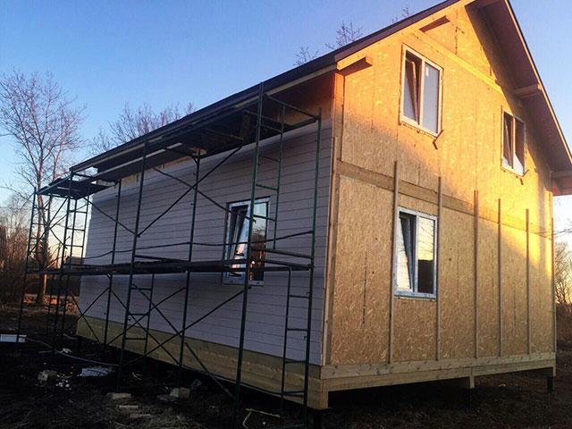 Двухэтажный дом из сип панелей до 100 кв.м.