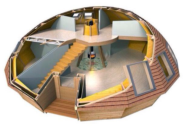План круглого дома