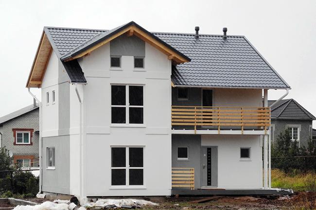 Готовый дом из СМЛ панелей