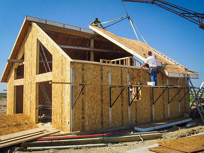 Стройка крыши